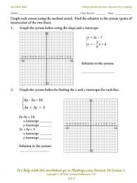 worksheets for graphing linear equations worksheets for all