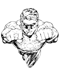 Small Picture Best Superhero Green Lantern Coloring Pages For Kids Great