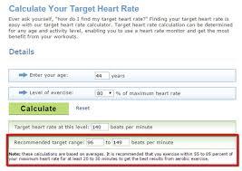 Target Heart Rate Range Calculator Using Standard