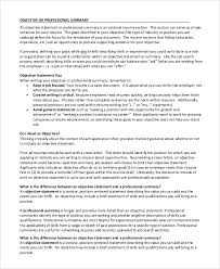Objective Summary Resume Writing Expository Essays Study Guides and Strategies resume 99