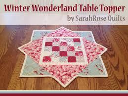 Winter Wonderland Table Topper by Sarah Rose Quilts - The Crafty ... & Winter Wonderland Table Topper by Sarah Rose Quilts Adamdwight.com