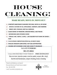 Cleaning Advertising Ideas House Cleaning Ad Templates Drabble Info