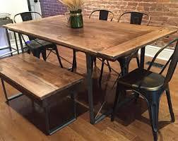 Image Reclaimed Wood Custom Made Rustic Industrial Dining Table Etsy Industrial Dining Table Etsy