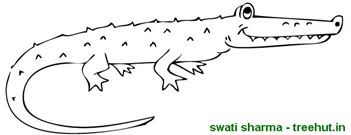 Small Picture Crocodile coloring page Printables Pinterest Crocodile and