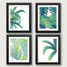 palm tree leaves wall art