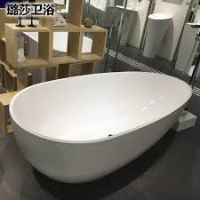 egg shape bathtub freestanding tub 1700x850x580mm