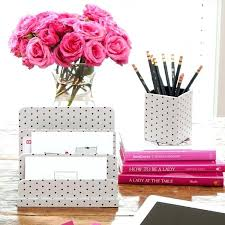 colorful office accessories. Colorful Desk Accessories Pink Flower Organizers . Office