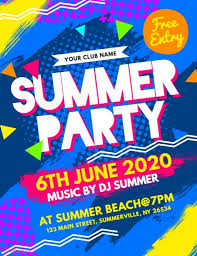 Summer Party Flyers Summer Party Flyer Template Postermywall