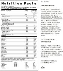 honey bunches of oats nutrition label world of label with regard to honey bunches of