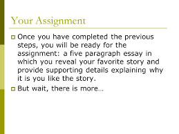 my favorite story ppt  your assignment
