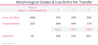 Embryo Grading Chart Fertilityiq Which Embryo To Transfer