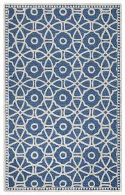 rizzy home luniccia wool loop rectangle area rug 5 x 8 blue off white geometric