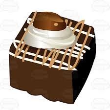 piece of chocolate cake clipart. Exellent Chocolate Piece Of Chocolate Cake With Sauce And Whipped Cream On Top Clipart A