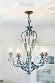 9rustic beach house chandelier makeover to make it