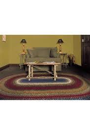 cotton braids oval log cabin step area rug