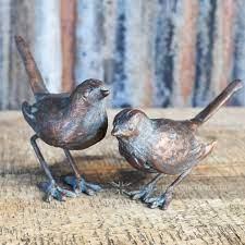 set of cast iron bird garden ornaments