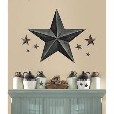Rustic Star Kitchen Decor New Idea For My Wallmetal Stars On My Wall But Different Sizes