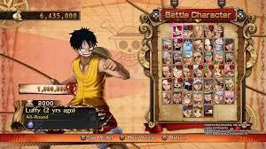 Game One Piece Burning Blood