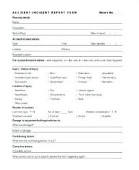 Employee Injury Report Form Tete Incident Pretty Workplace