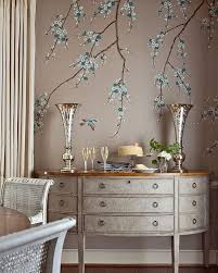blue bedroom chinoiserie console table french doors