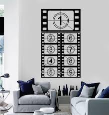 cinema room furniture. Film Strip Vinyl Wall Decal Cinema Room Filming Movie Art Stickers Sofa Background Decor Interior Monochrome LA507-in From Home Furniture