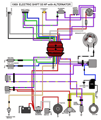 mastertech marine evinrude johnson outboard wiring diagrams 55 hp electric shift alternator 1969