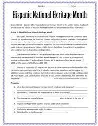 national hispanic heritage month reading substitute plan for  great emergency sub plan for spanish class is national hispanic heritage month here