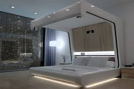 four-poster beds in wood In the bedroom built ultra-modern