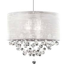 drum shade crystal chandelier ceiling