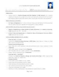 Resume Of Electrical Engineer For Pleasant Sample Fresh