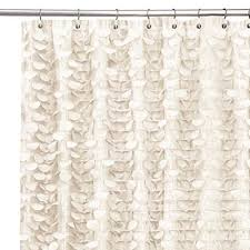 special concept 84 inch long ruffle shower curtain