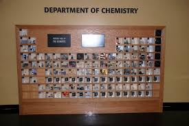 This periodic table of the elements has a physical sample of ...