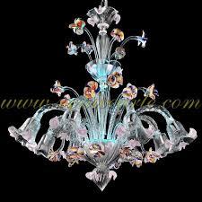 la fenice murano chandelier 8 lights crystal polychrome