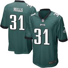 Jersey Philadelphia Green Eagles Mills 31 Home Jalen Men's Sale Game Midnight Football