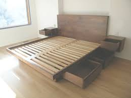 platform bed with drawers plans. Nightstands:King Platform Bed Plans \u2014 One Thousand Designs With Regard To For King Drawers A