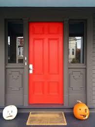 modern front door orange. Sherwin-williams Vermillion Red-orange Front Door Modern Orange