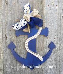 wooden anchor door hanger wall decoration nautical decor beach decor lake decor front door decorations