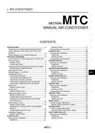 nissan x trail manual air conditioner section mtc pdf 2005 nissan x trail manual air conditioner section mtc 36 pages