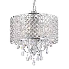 marya 4 light round drum crystal chandelier ceiling fixture chrome within chrome drum chandelier