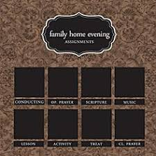 113 Best Fhe Charts Images Family Home Evening Family