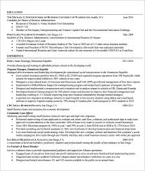Mba Resume Template - April.onthemarch.co