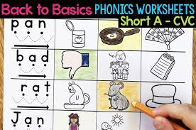 Worksheet for (very) young learners who have just started reading. Short A Phonics Worksheets Short A Cvc Words