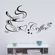 wall stickers ikevan pvc decal removable kitchen decor coffee cup home decals vinyl art wall sticker home decoration 65x40cm