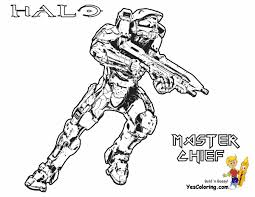 Halo Spartan Coloring Pages