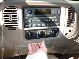 ford f 150 factory radio uninstall and new radio install removing front dash panel