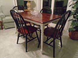 Painted Wooden Kitchen Chairs Chair Table Furniture Ideas