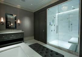 marble shower stall with seat