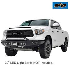 EAG Full Width Front Bumper W/Winch Plate&LED Lights for 14-18 ...