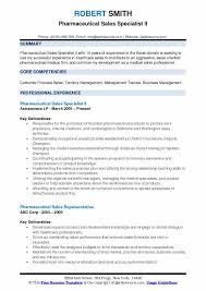 How To Get Into Pharmaceutical Sales Pharmaceutical Sales Specialist Resume Samples Qwikresume