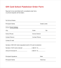 fundraising forms 16 fundraiser order templates free sample example format